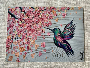 "BACK IN STOCK - ""Hummingbird Blossom Print"""