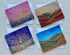 Sunray Collection | Set of 4 Greeting Cards