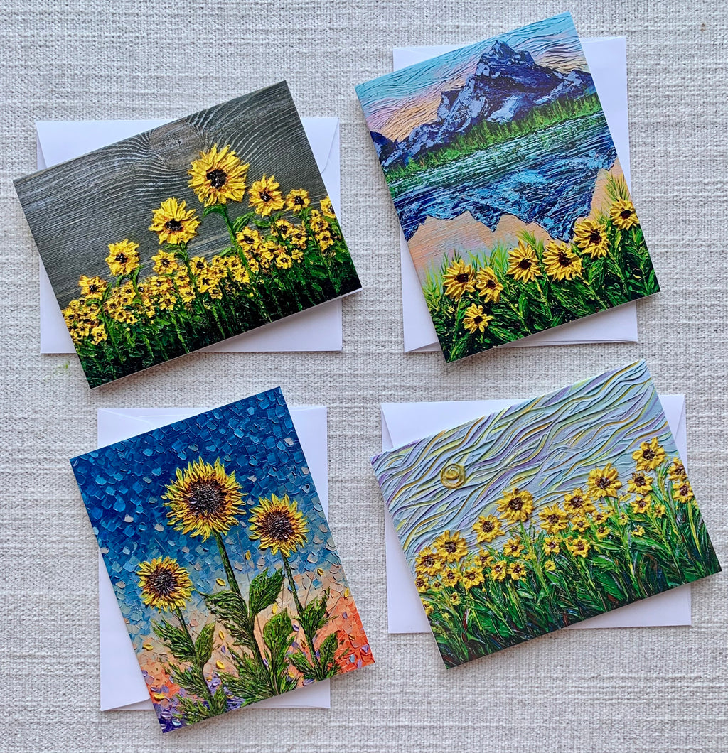 Sunflower Collection - Set of 4 Greeting Cards