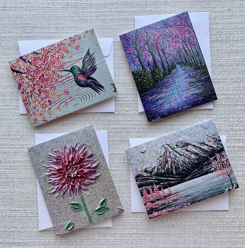 Blossom Collection - Set of 4 Greeting Cards