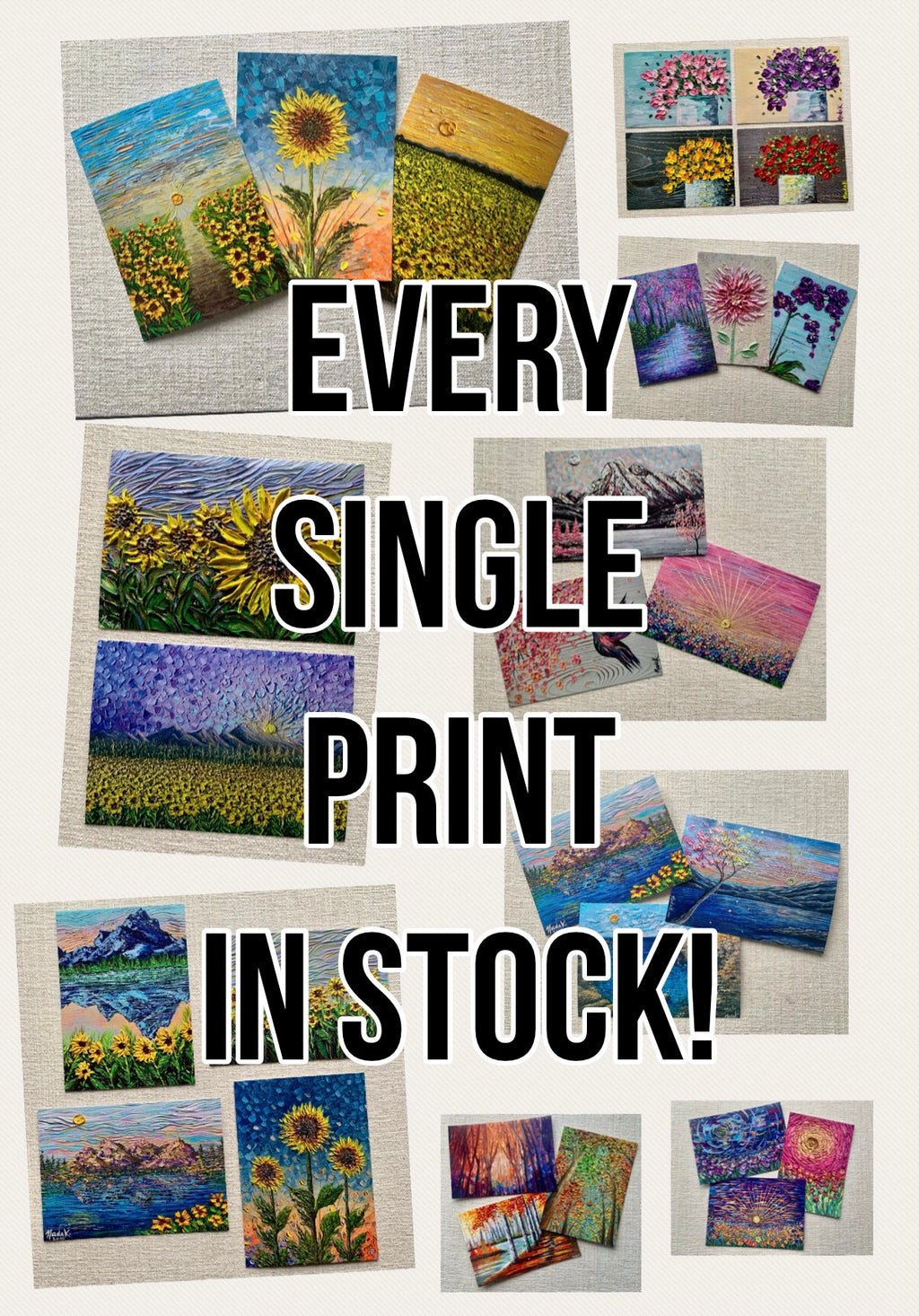EVERY SINGLE PRINT IN STOCK!