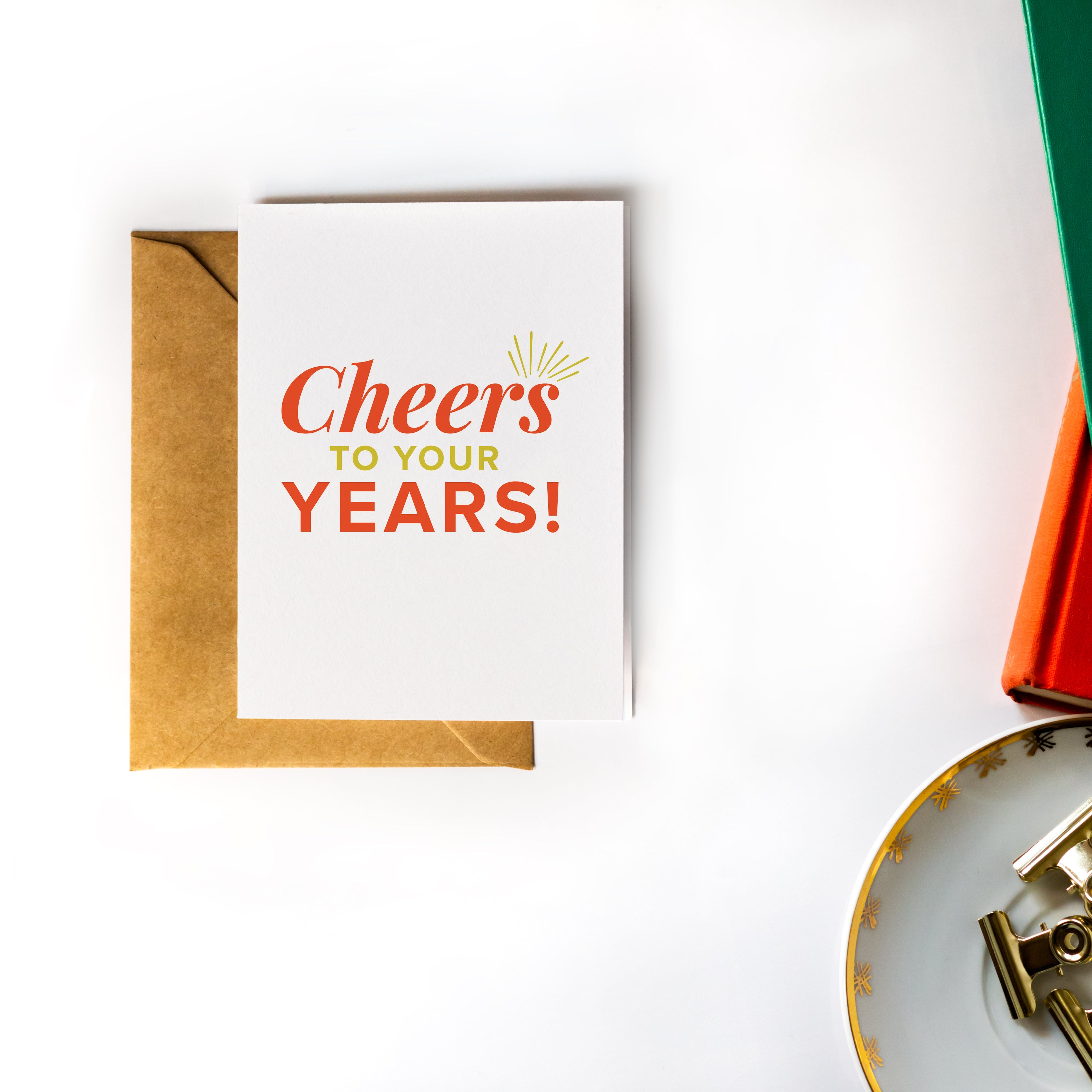 Birthday Greeting Card - Cheer's to you Years!