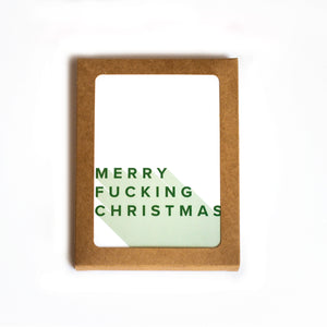 Boxed Cards - Set of 6 - Merry Fucking Christmas