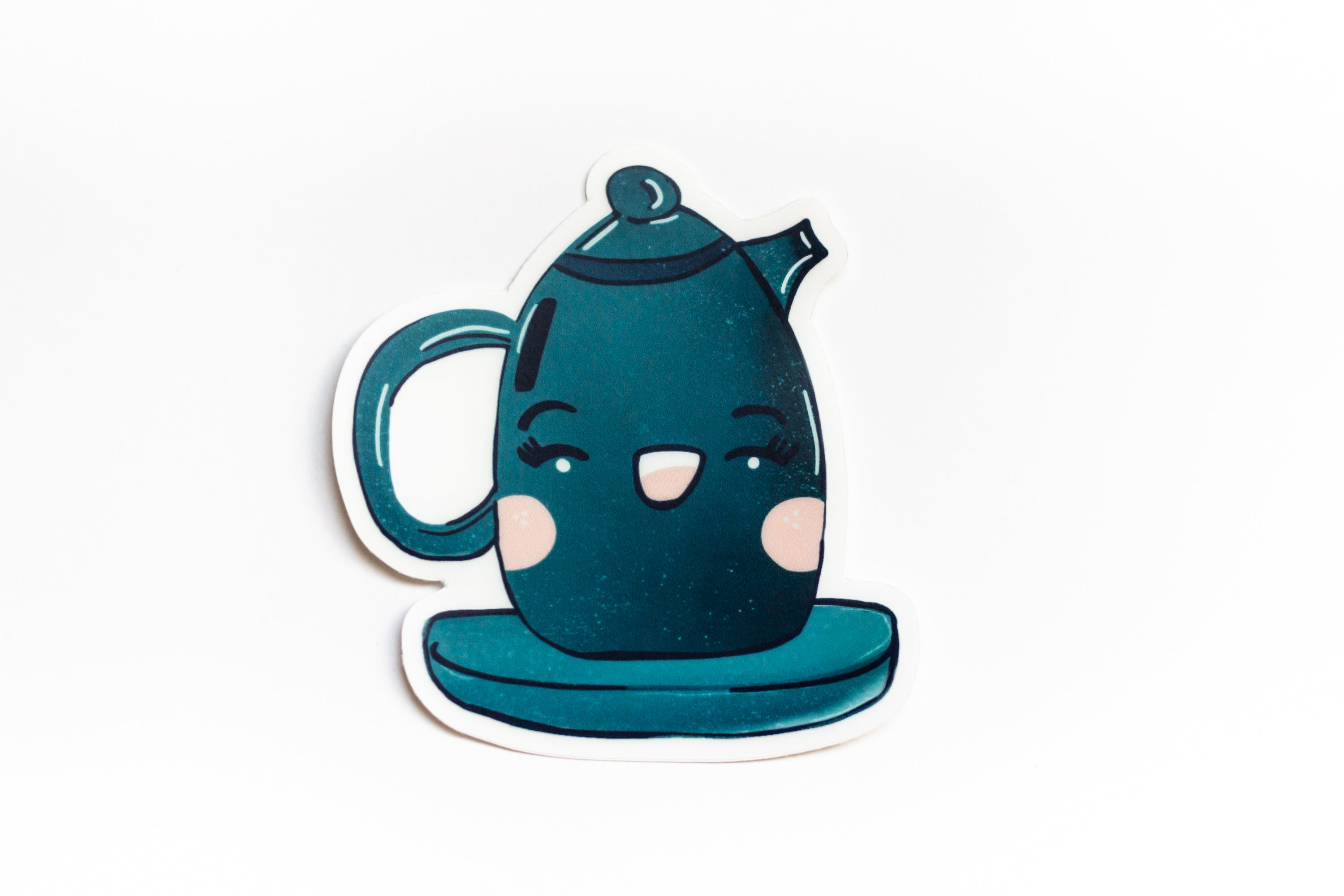 Teapot - Cottagecore Aesthetic Sticker - Waterproof Transparent Sticker