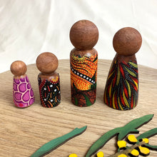 Load image into Gallery viewer, Nunga Creations wooden family doll set