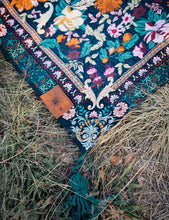 Load image into Gallery viewer, Wandering Folk Picnic Rug - Emerald Forest