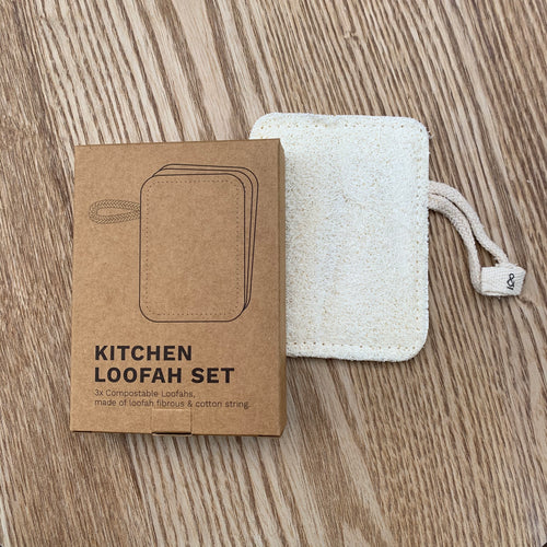 Compostable Kitchen Loofah Set- Seed and Sprout