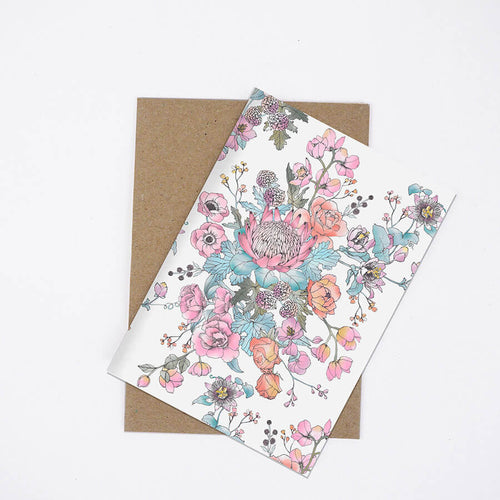 Romance In Bloom Card - Small A6 - The Scenic Route