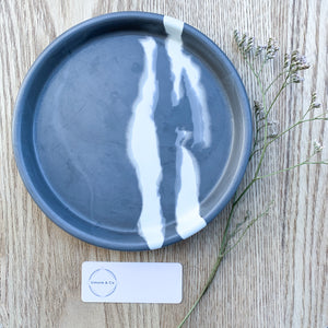 Coloured Concrete Ring Dish - Medium - Simone & Co