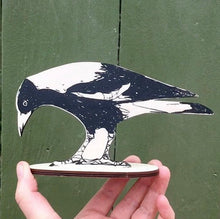 Load image into Gallery viewer, Magpie Printed Artwork Shelf Ornament - Bridget Farmer
