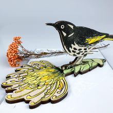 Load image into Gallery viewer, New Holland Honeyeater Artwork Shelf Ornament - Bridget Farmer