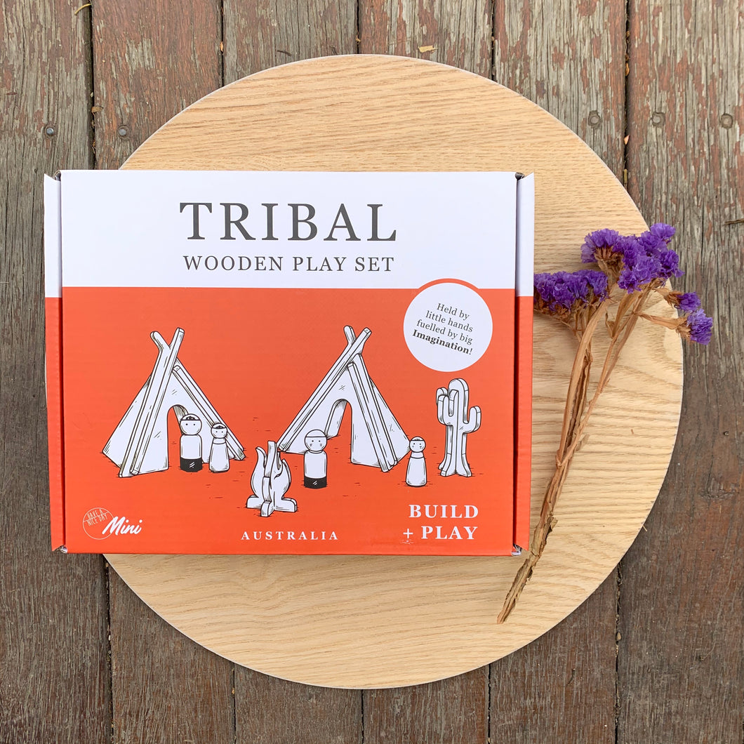 Wooden Play Set - Tribal - Have a Nice Day Toys