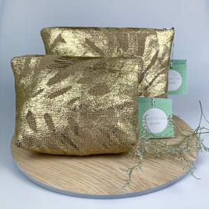 Gold Repurposed Hessian Bag - Small