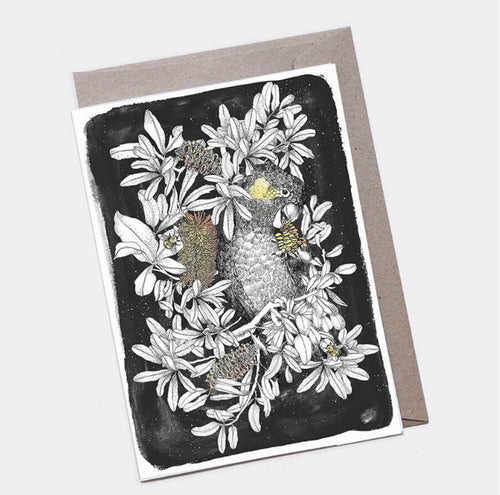 Black Cockatoo Card - Large A5 - The Scenic Route