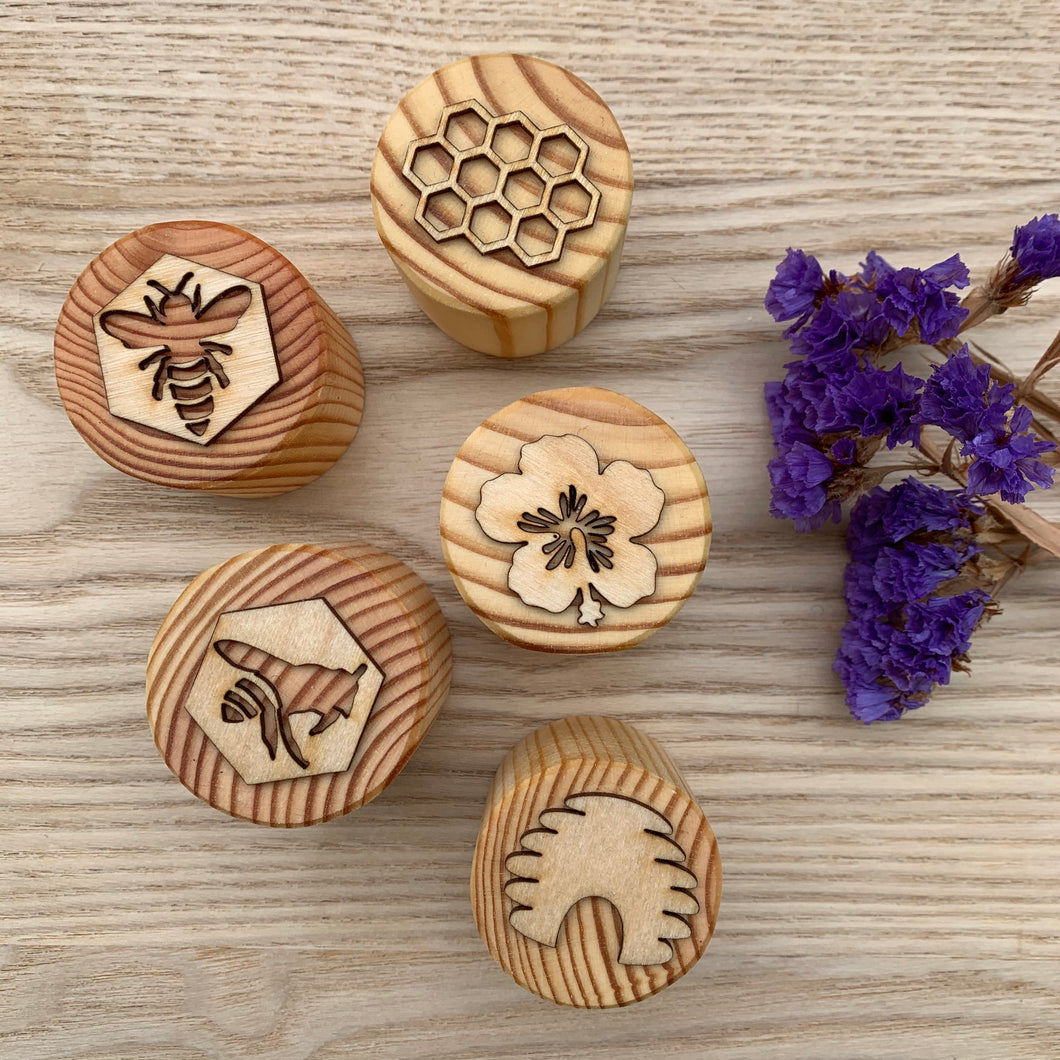 Playdough Stamps - Bee - Set of 5 stamps