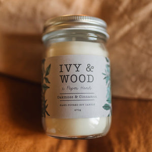 Oakmoss and Cinnamon Soy Candle