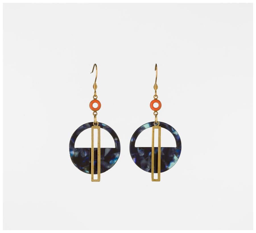 Yacht Earring - Orange and Blue ~ Middle Child