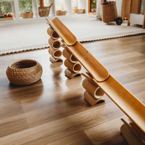 Bamboo Construct and Roll set with Wooden Balls- Explore Nook