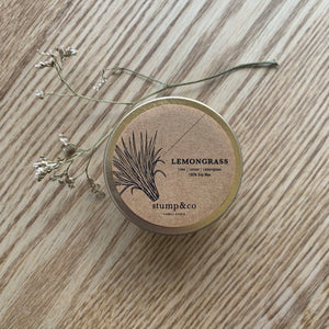 Lemongrass Travel Candle - Stump and Co