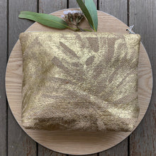 Load image into Gallery viewer, Gold Repurposed Hessian Bag - Large