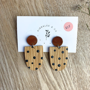 Hand cut wooden earrings - Kirralee and Co.