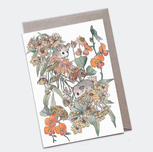 Pygmy Possum Card - Large A5 - The Scenic Route