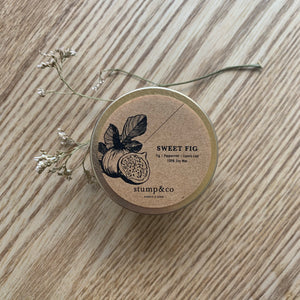 Sweet Fig Travel Candle - Stump and Co
