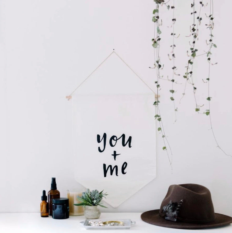 You + Me - Wall Flag