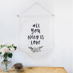 All you Need is Love - Wall Flag