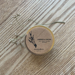 Amber & Moss Travel Candle - Stump and Co