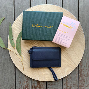 Mighty Mini Wallet - Navy ~ Bon Maxie