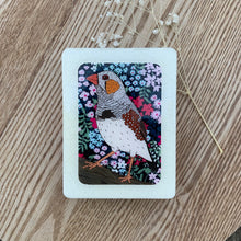 Load image into Gallery viewer, Zebra Finch Woodblock Artwork - Mini size