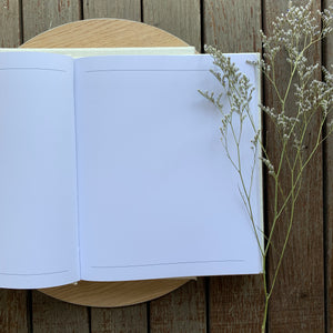 Well Wishes - Linen Boxed guest book