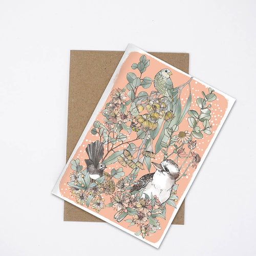 Kookaburra and Friends Card - Small A6 - The Scenic Route