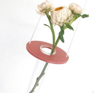 Keep-Oh - Hanging Vase - Oval Dusty Rose