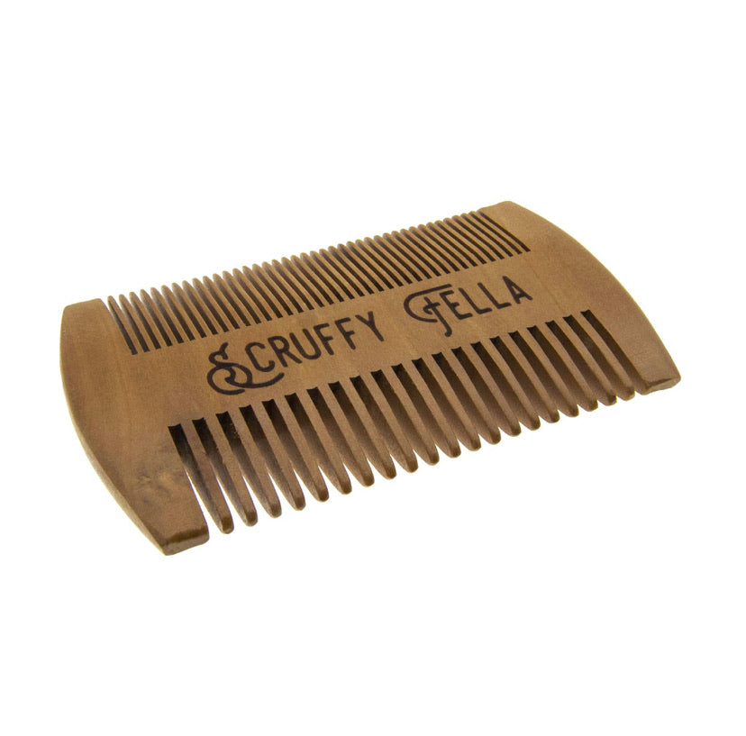Pear Wood Comb - Scruffy Fella