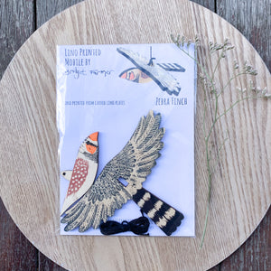 Zebra Finch Bird Mobile- Bridget Farmer