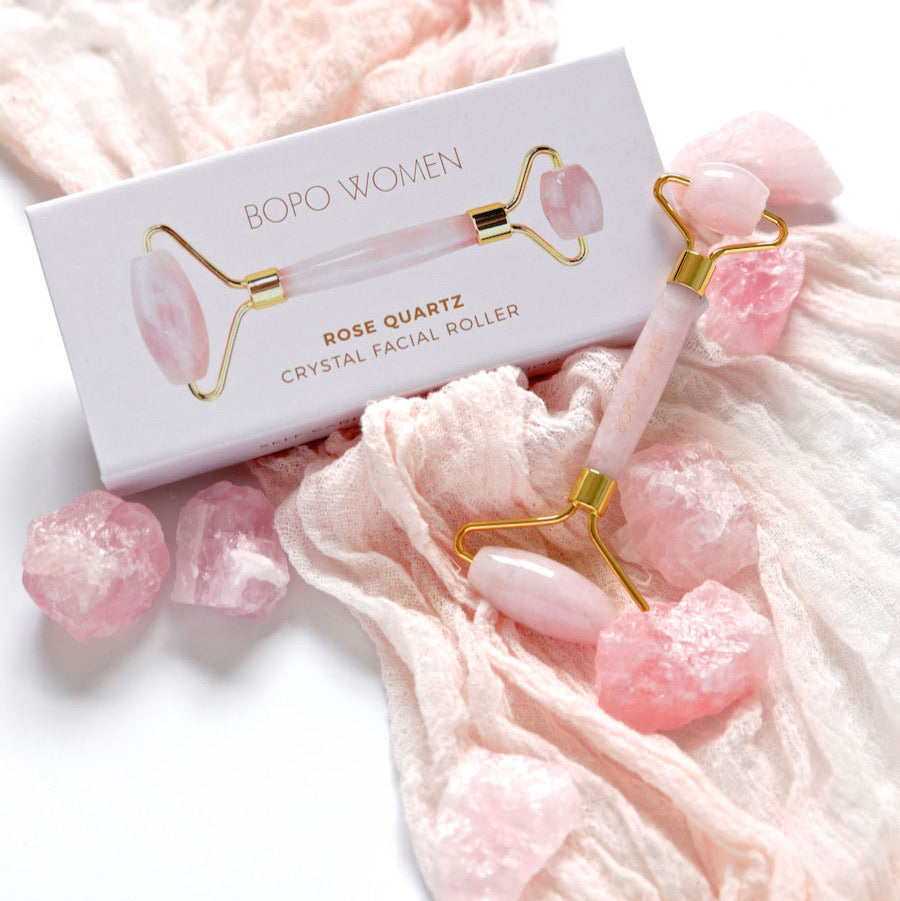 Rose Quartz Crystal Facial Roller - Bopo Women