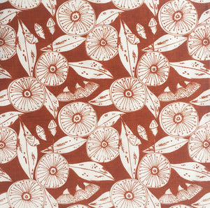 Gum Flower Napkin Set - Rust