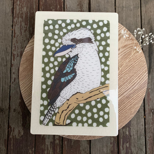 Kookaburra Woodblock Artwork - Maxi