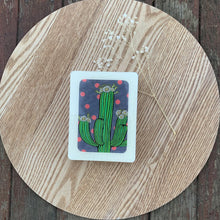 Load image into Gallery viewer, Cactus Bloom Woodblock Artwork - Mini size