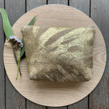 Load image into Gallery viewer, Gold Repurposed Hessian Bag - Small