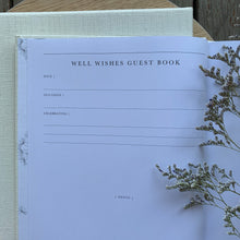 Load image into Gallery viewer, Well Wishes - Linen Boxed guest book