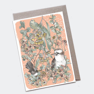 Kookaburra and Friends Card - Large A5 - The Scenic Route