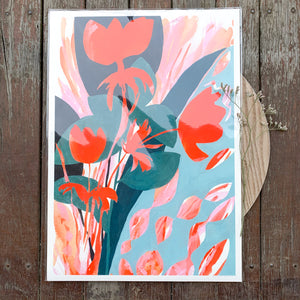 Fire Poppies - A3 print - Georgie Daphne