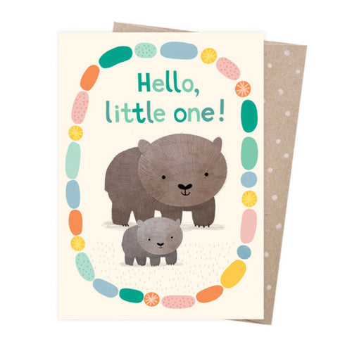 Welcome Baby Wombat card