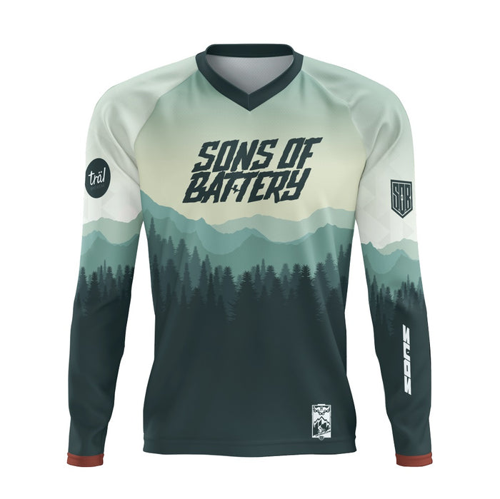 GREEN FOREST - SONS OF BATTERY E-BIKE COMMUNITY SHIRT