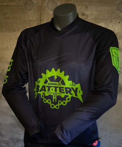 Sons of Battery - Flash Neon - Langarm eMTB/eBike Trikot