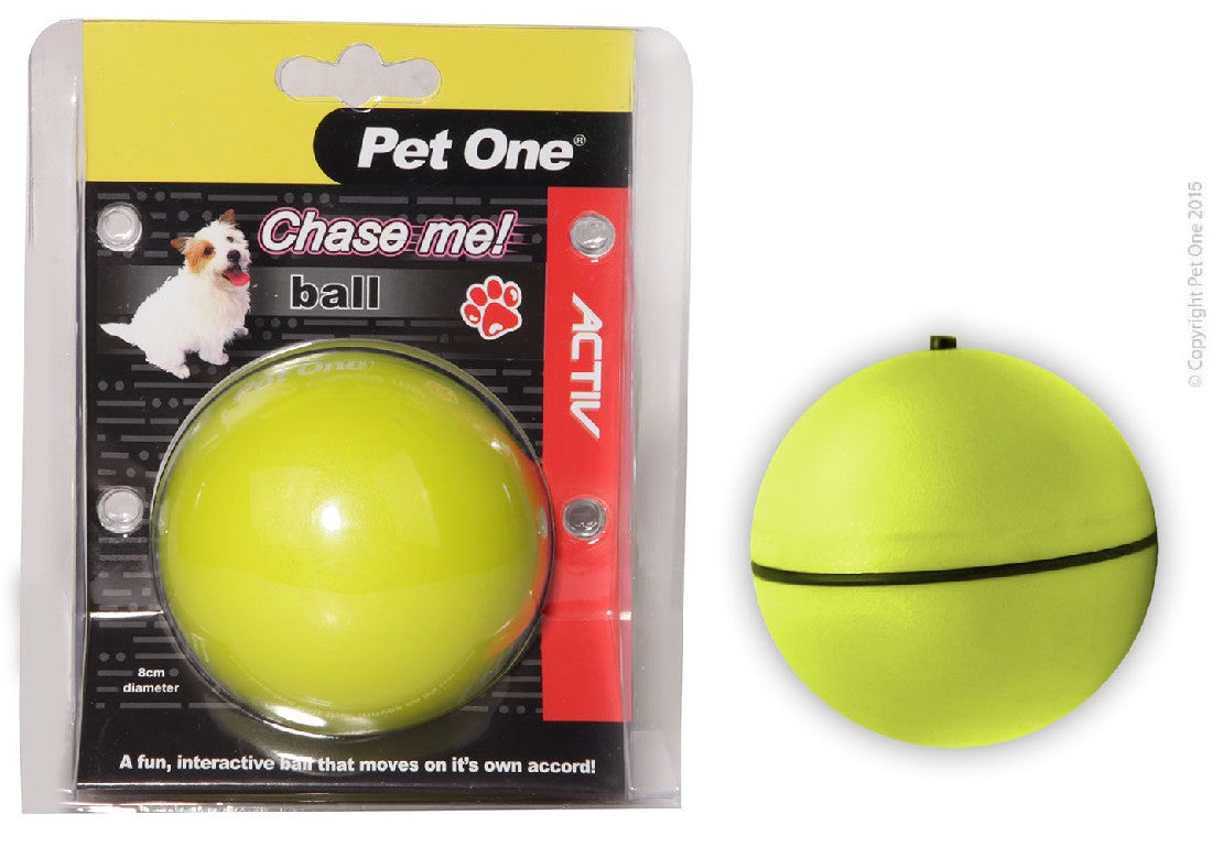 PET ONE CHASE ME BALL ELECTRONIC - City Country Pets and Supplies