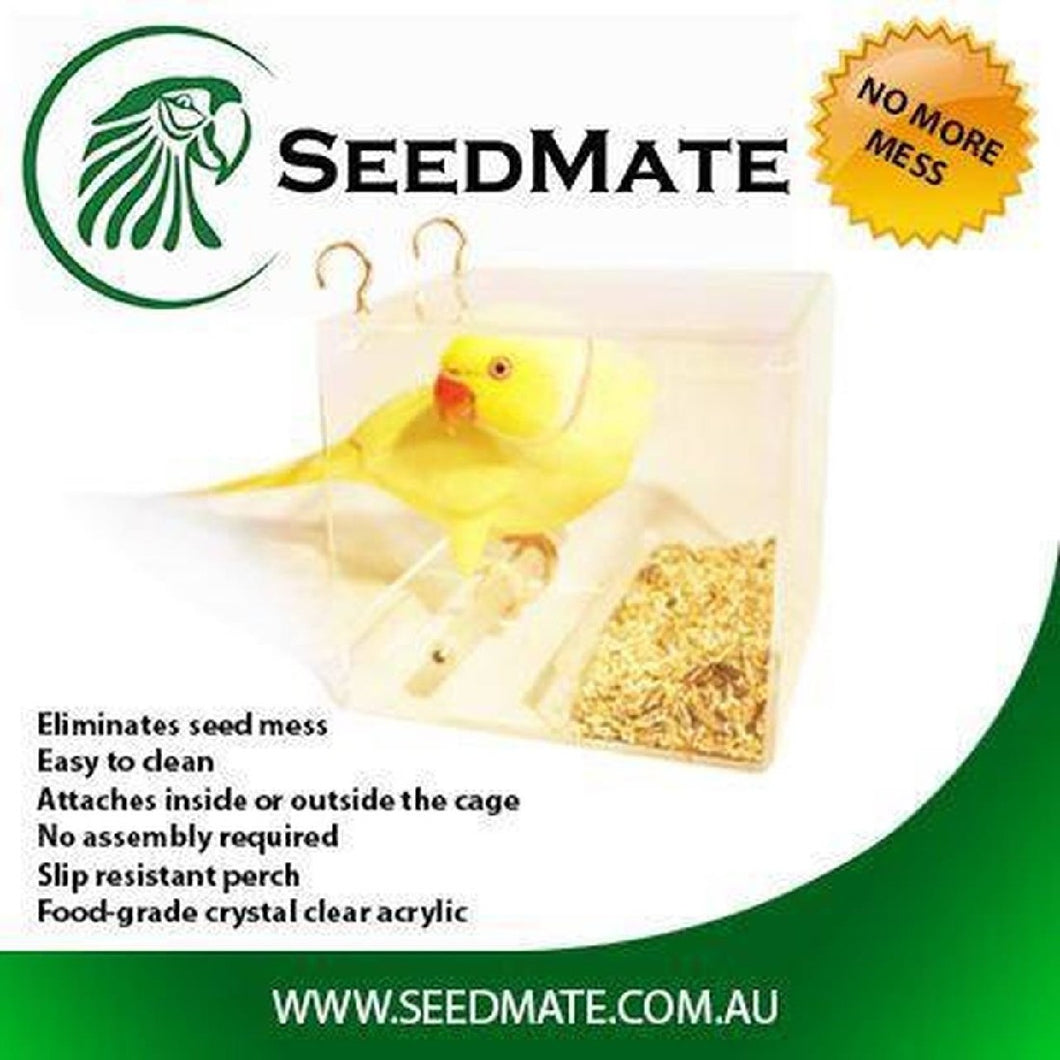 SEEDMATE NO MORE MESS BIRD FEEDER SMALL 14X13X13CM